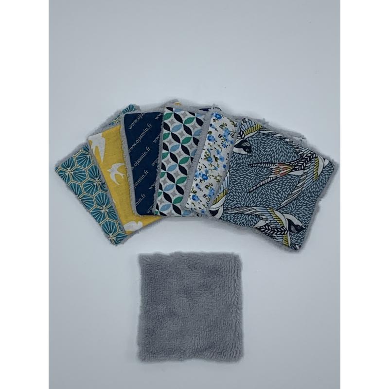 Lingettes Lavables / Démaquillantes Eponge Grises - LLEG006