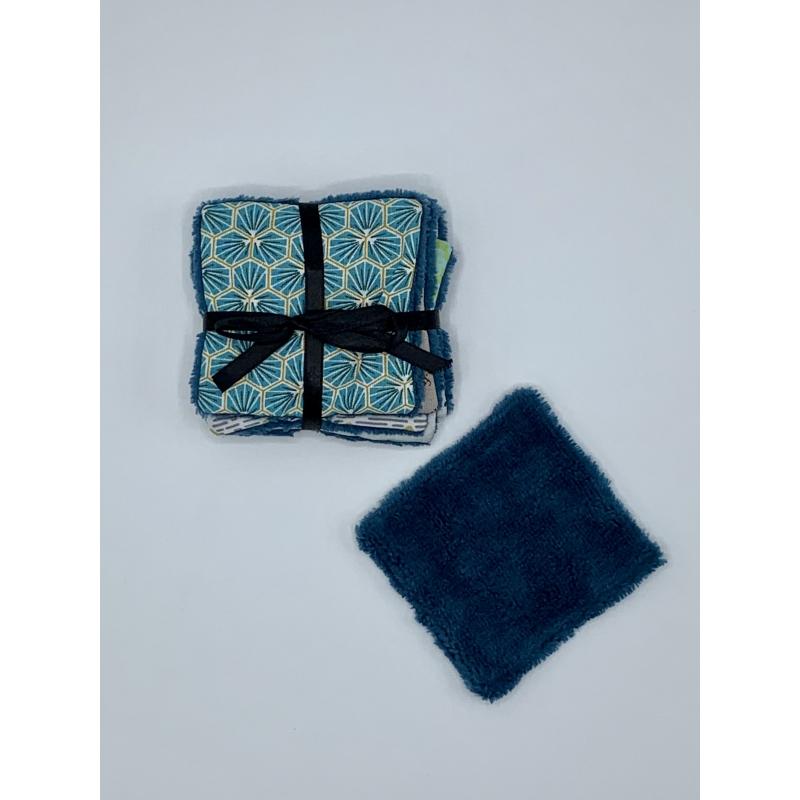 Lingettes Lavables /  Démaquillantes Eponge Bleues Canard - LLEBC007
