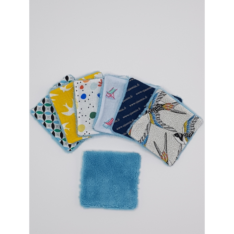 Lingettes Lavables Eponge Bleu Turquoise - LLEBT003